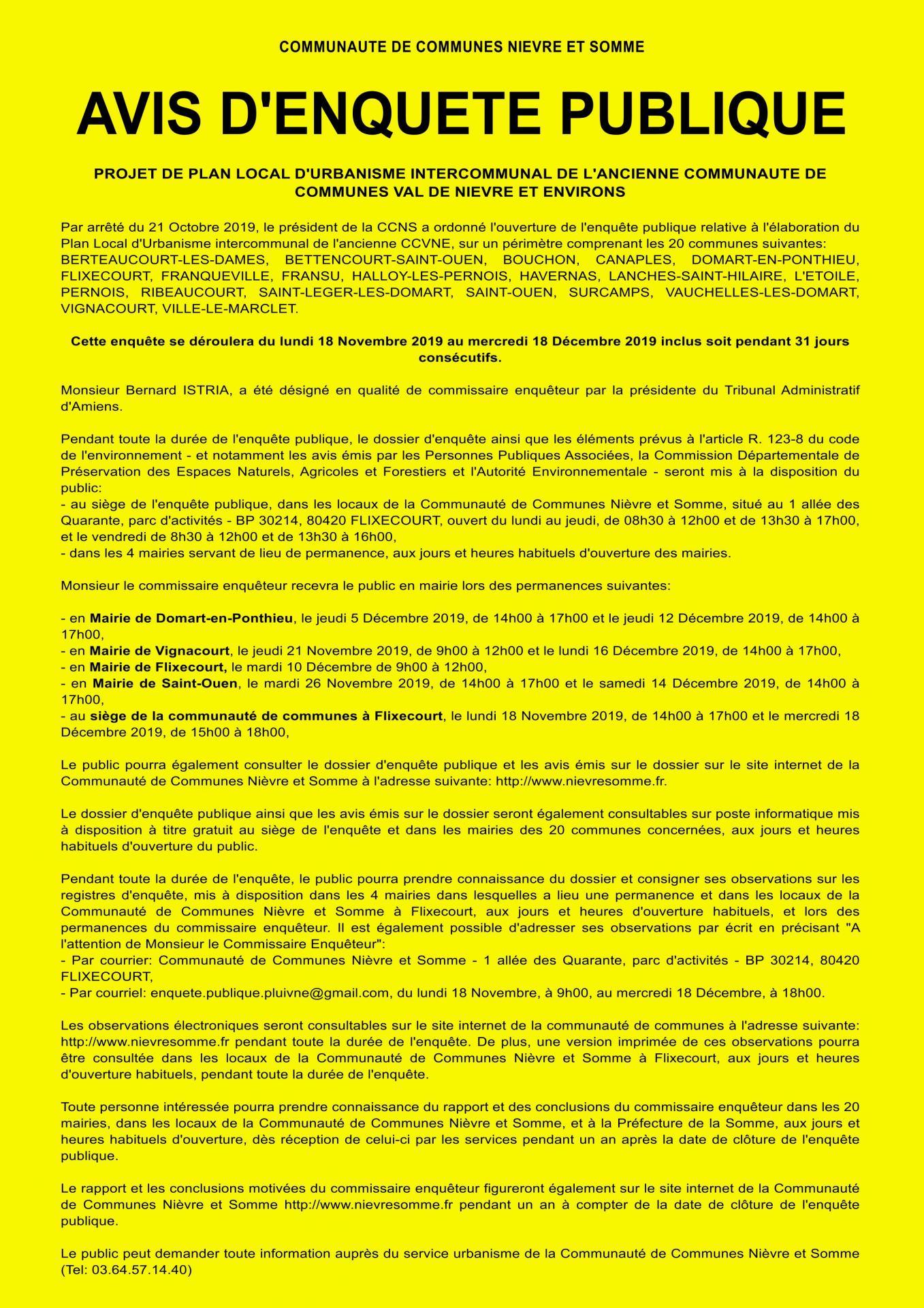 Enquête Publique PLUI Val de Nièvre et environs