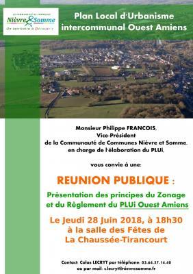 Réunion Publique PLUi Ouest Amiens