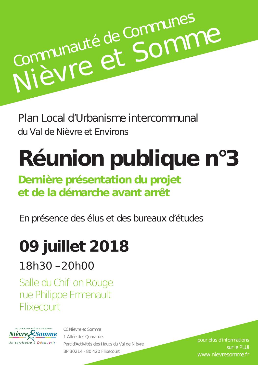 Réunion Publique PLUi Val de Nièvre et Environs