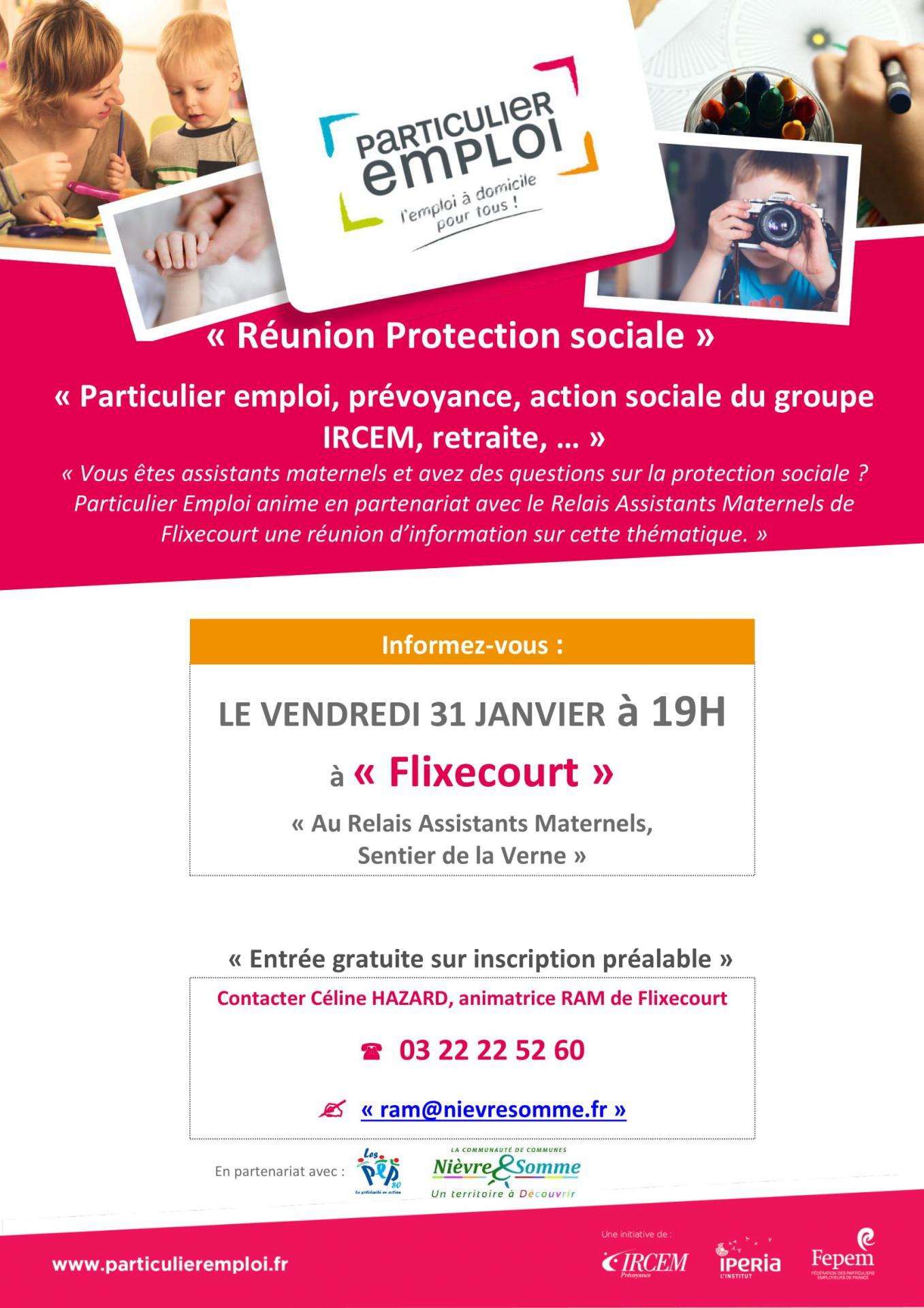 Réunion protection sociale